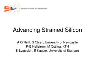 Advancing Strained Silicon