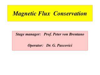 Magnetic Flux  Conservation