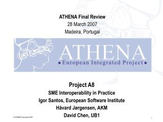 Project A8 SME Interoperability in Practice Igor Santos, European Software Institute