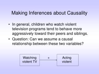 Making Inferences about Causality