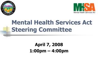 Mental Health Services Act Steering Committee