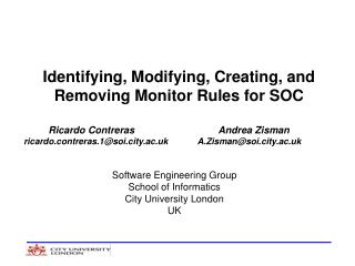 Identifying, Modifying, Creating, and Removing Monitor Rules for SOC