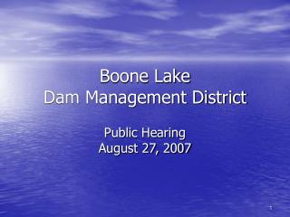 Boone Lake  Dam Management District