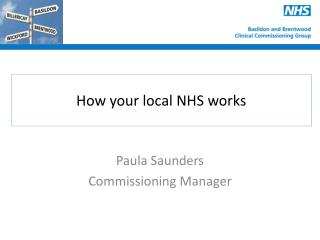 How your local NHS works