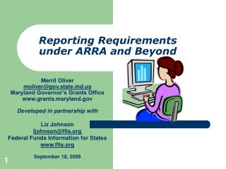 Reporting Requirements under ARRA and Beyond