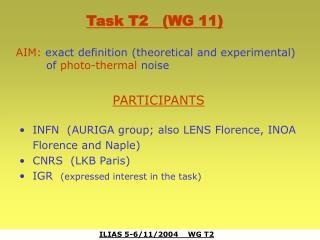 ILIAS 5-6/11/2004    WG T2