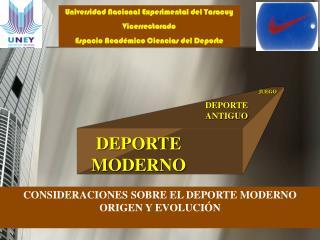 Universidad Nacional Experimental del Yaracuy Vicerrectorado Espacio Acad mico Ciencias del Deporte