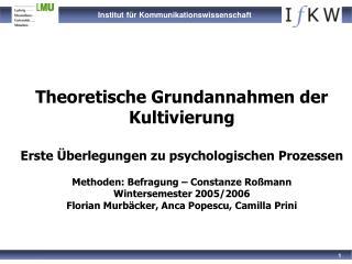 Theoretische Grundlagen der Kultivierungshypothese