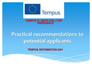 Practical recommendations to potential applicants