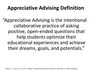 Appreciative Advising Definition