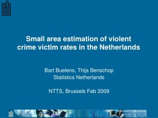 Small area estimation of violent  crime victim rates in the Netherlands