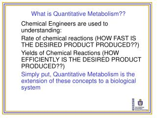 What is Quantitative Metabolism??