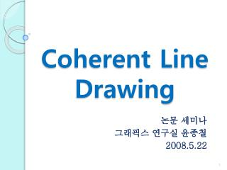 Coherent Line Drawing