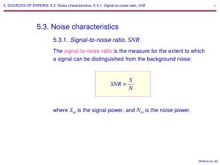 5.3. Noise characteristics
