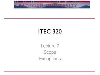 ITEC 320