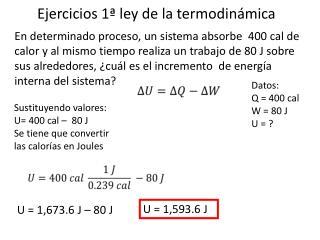 Ejercicios 1ª ley de la termodinámica