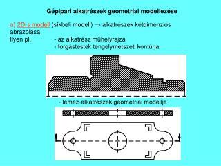 Gépipari alkatrészek geometriai modellezése