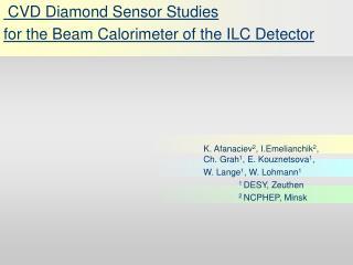 CVD Diamond Sensor Studies  for the Beam Calorimeter of the ILC Detector