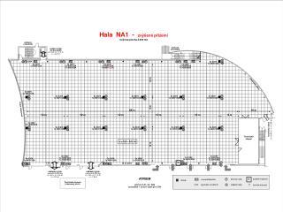 Hala  NA1  -   zvýšené přízemí Celková plocha 2.300 m2