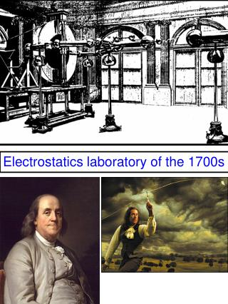 Electrostatics laboratory of the 1700s