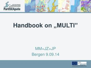 "Handbook  on ""MULTI"""