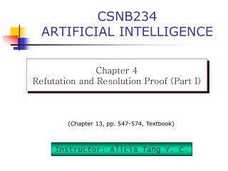 CSNB234 ARTIFICIAL INTELLIGENCE