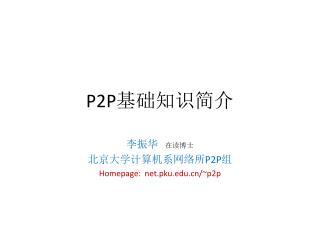 P2P 基础知识简介