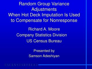 Random Group Variance Adjustments  When Hot Deck Imputation Is Used to Compensate for Nonresponse