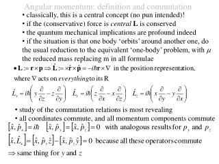 Angular momentum: definition and commutation