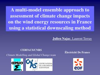 CERFACS/CNRS Climate Modelling and Global Change team
