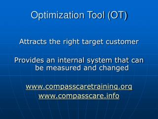 Optimization Tool (OT)