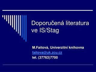 Doporučená literatura ve IS/Stag