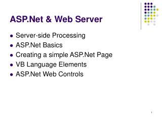 ASP.Net & Web Server