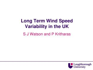 Long Term Wind Speed Variability in the UK