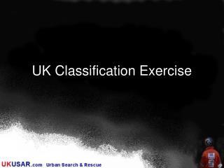 UK Classification Exercise