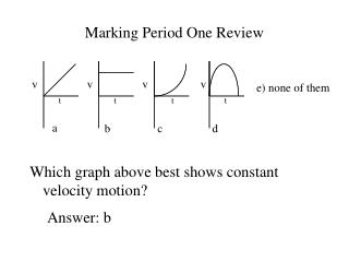 Marking Period One Review