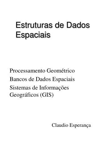 Estruturas de Dados Espaciais
