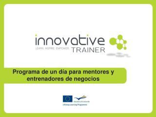 Programa de un día para mentores y entrenadores de negocio s