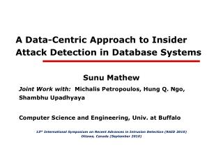 A Data-Centric Approach to Insider Attack Detection in Database Systems