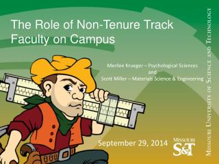 The Role of Non-Tenure Track Faculty on  Campus