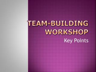 Team-Building Workshop