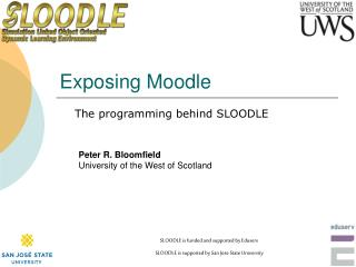 Exposing Moodle