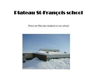 Plateau St-François school