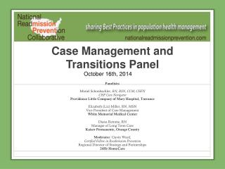 Case Management and Transitions Panel