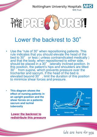 Lower the backrest to 30°