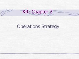 KR: Chapter 2