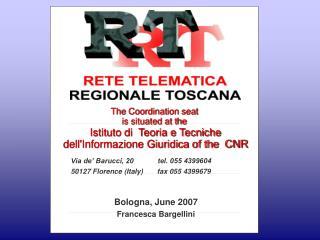 Via de' Barucci, 20            tel. 055 4399604   50127 Florence (Italy)       fax 055 4399679