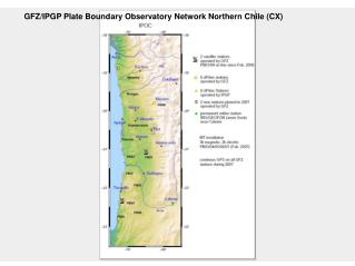 GFZ/IPGP Plate Boundary Observatory Network Northern Chile (CX)