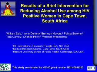 This study was funded by NICHD grant number R01HD058320