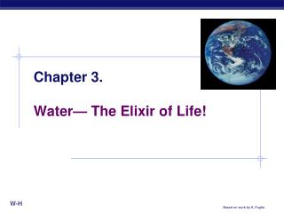 Chapter 3. Water— The Elixir of Life!